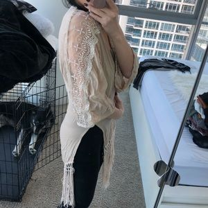 Tobi Tops - DONATING 5/13**** Fringe Cardigan